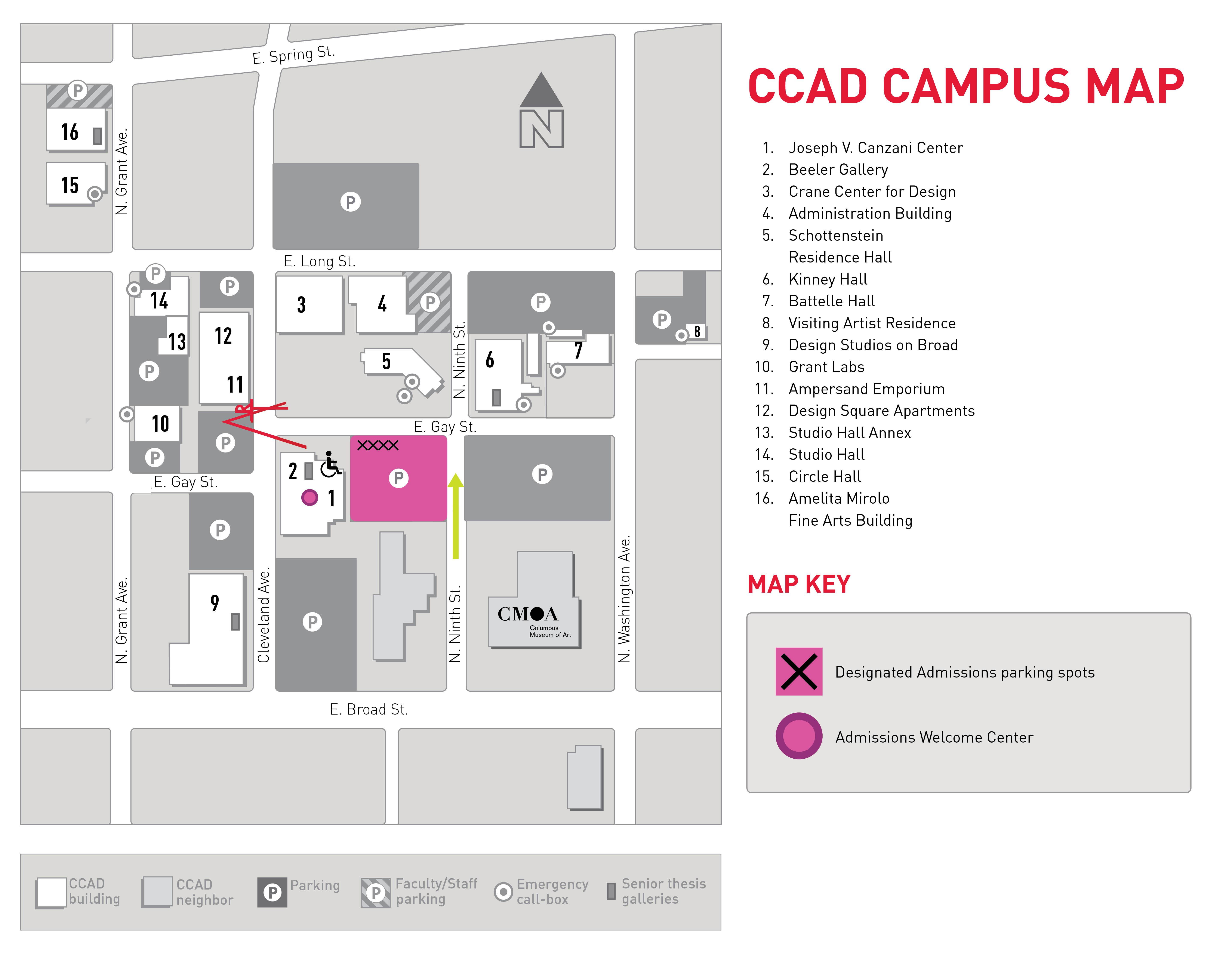 Campus map during construction