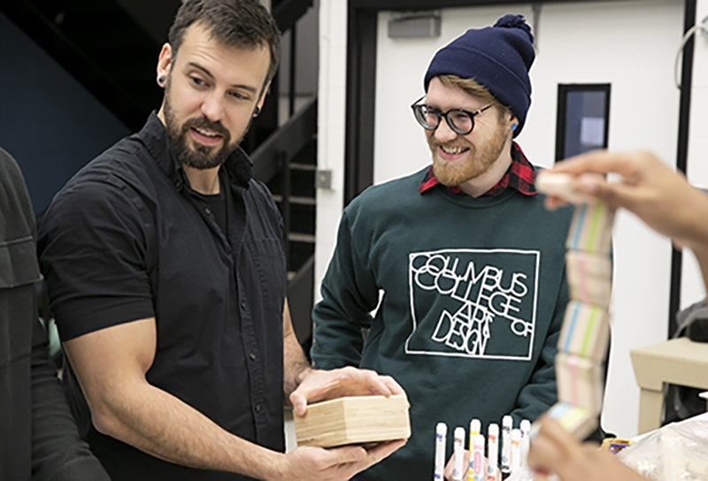 CCAD Industrial Design students learn about wooden toys made by Craftsmen for Kids