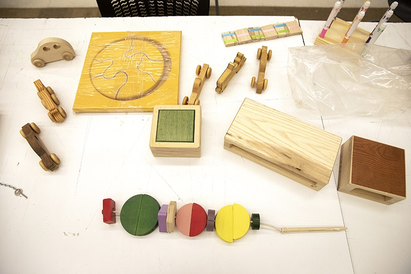 A selection of toys made by Craftsmen for Kids