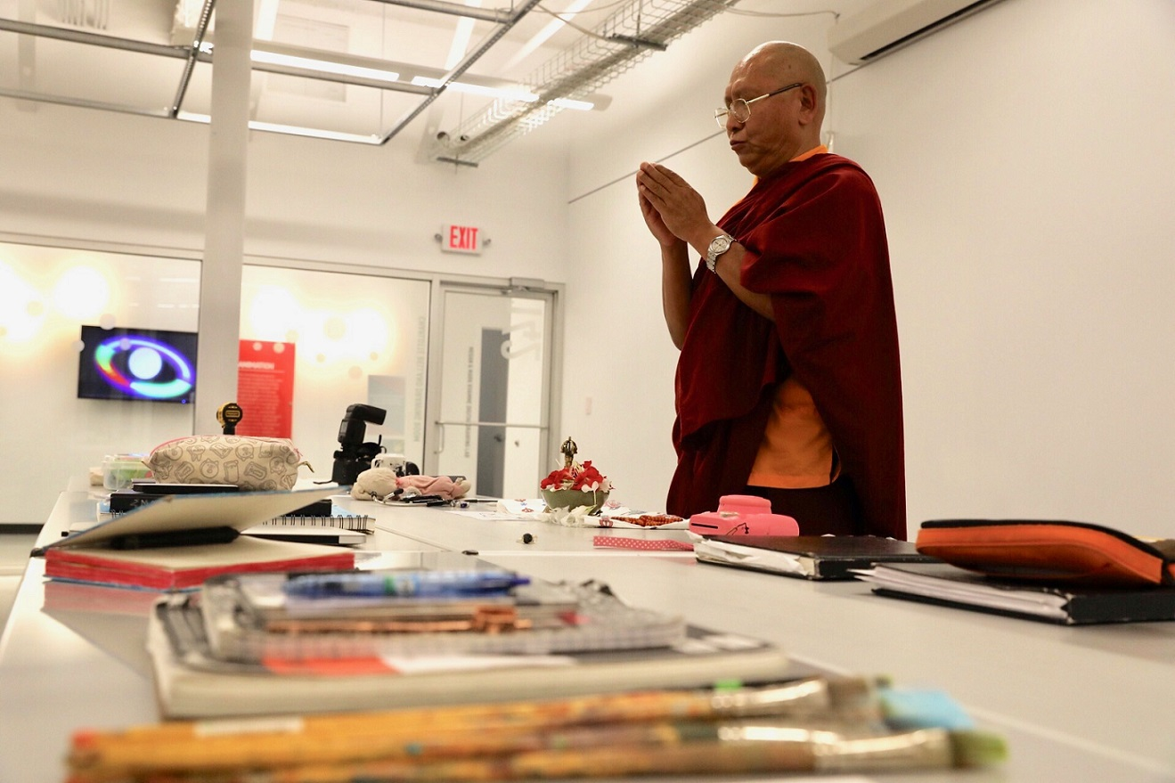 monk blessing art supplies
