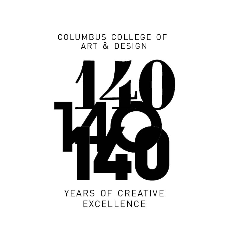 Logo of 140 years at CCAD