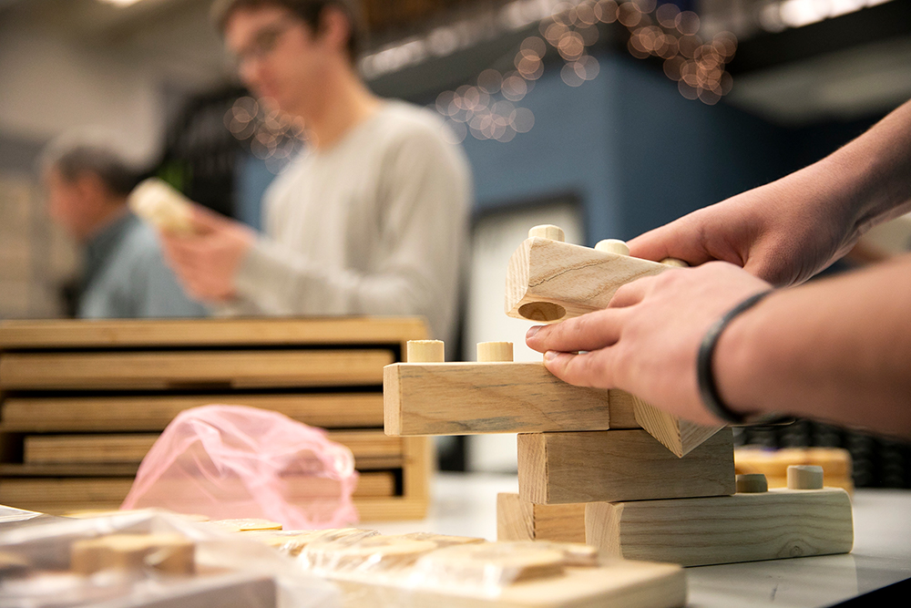 CCAD Industrial Design students work on wooden toys for kids