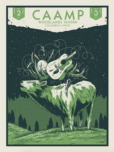Illustration, screenprinted poster