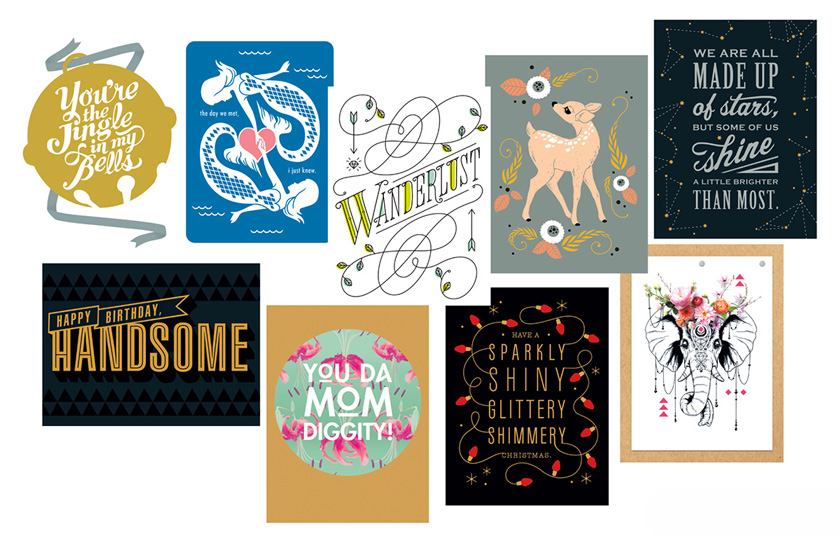 Why american greetings hires ccad grads columbus college of art advertising graphic design illustration collage of overlapping greeting card covers with illustrations and m4hsunfo