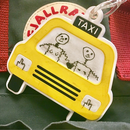 taxi shaped bag