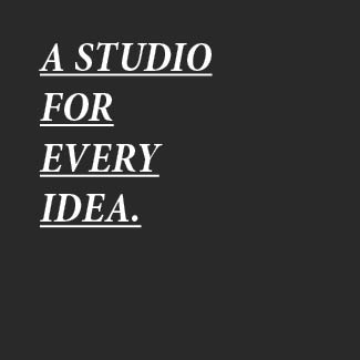 a studio for every idea text