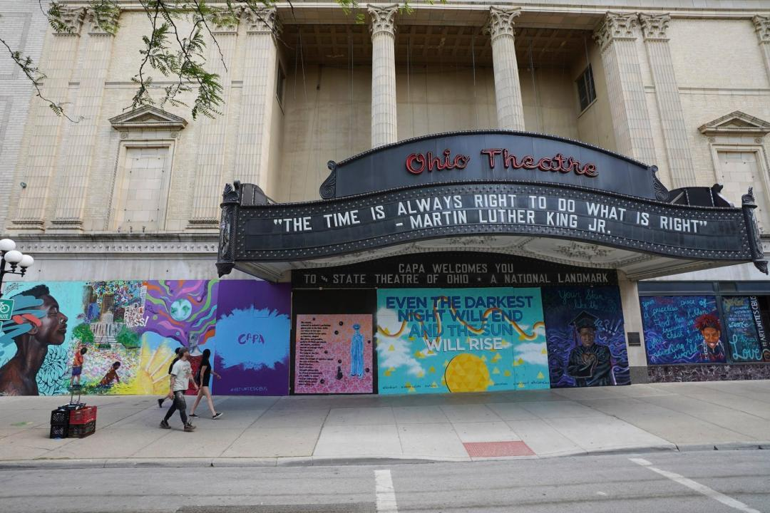 ohio theater with murals