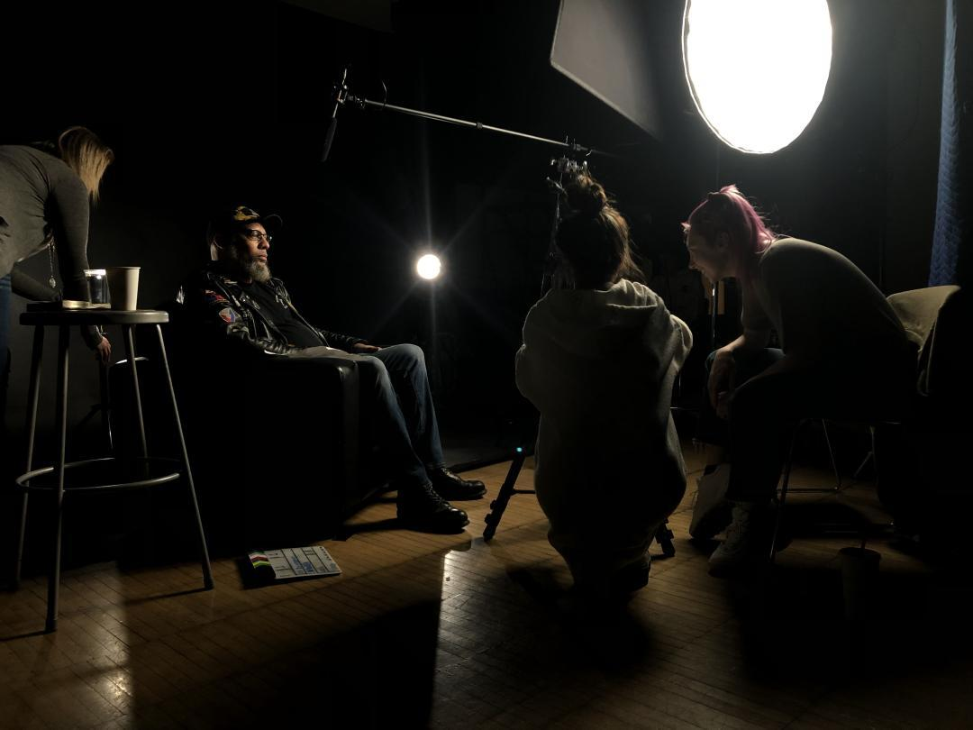 CCAD student filmmakers interview Veteran Leni D. Anderson.