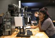 Students work in CCAD's dedicated stop-motion animation lab