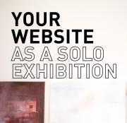 your website as a solo exhibiiton