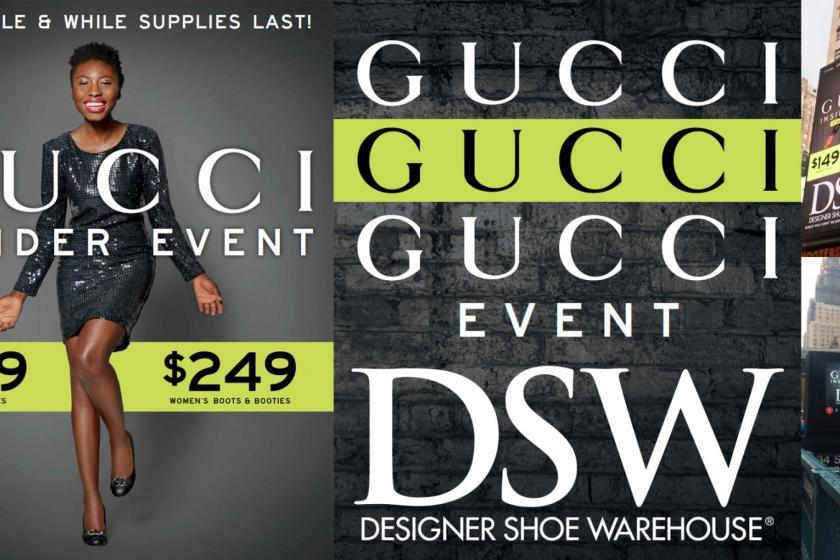 Collateral For DSW Gucci Promotion Advertising & Graphic Design Cathy P Johnson