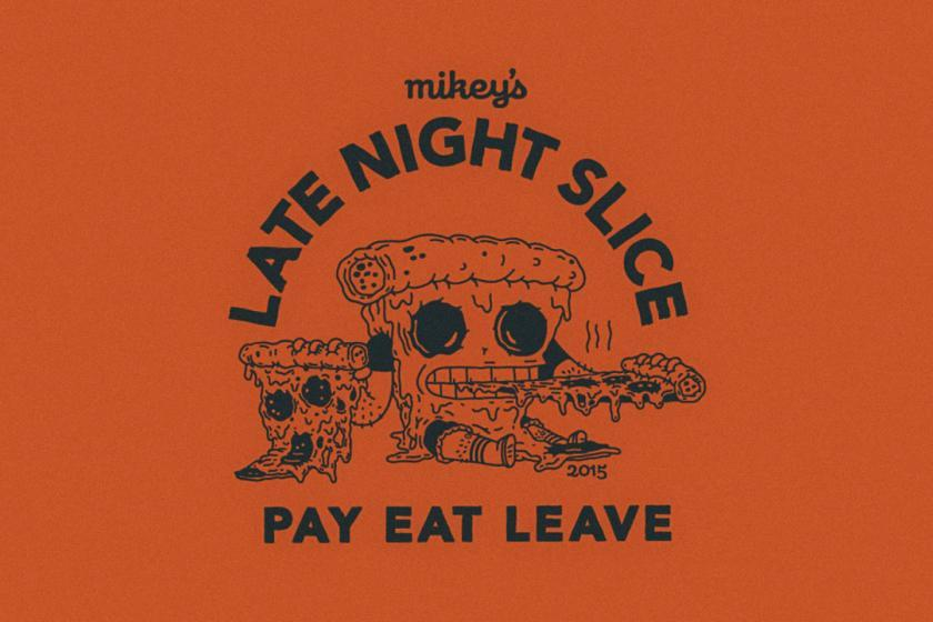 Illustration, Mikey's Late Night Slice Illustration Patrick Moore
