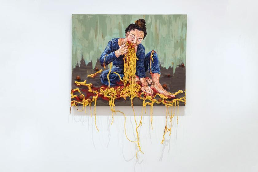 The Girl Is Eating Spaghetti Fine Arts So Jung Kim