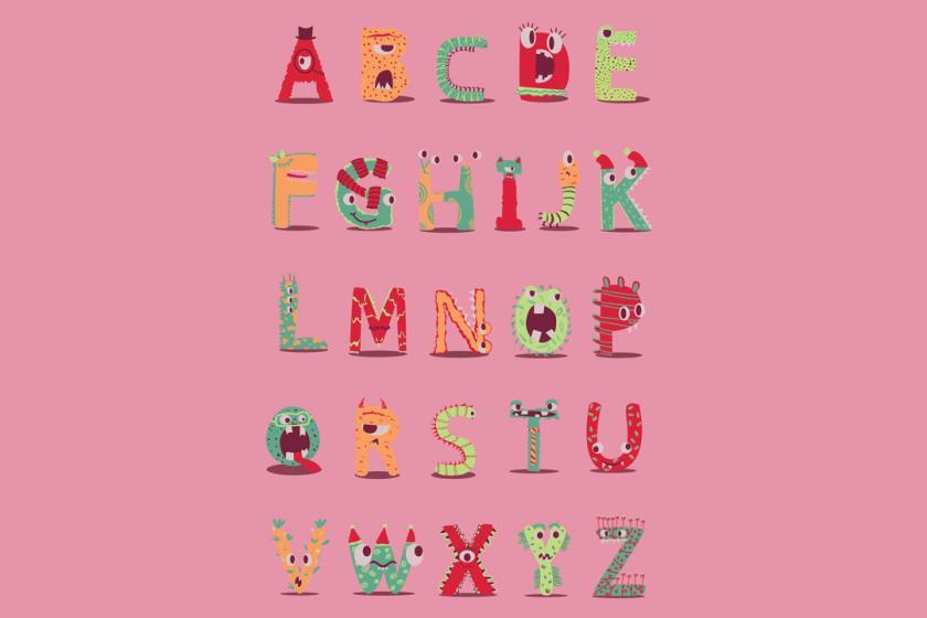 Monster Alphabet Friends Illustration Emily Robinson