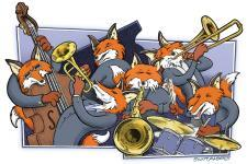 Jazz Foxes Illustration Scott Alberts
