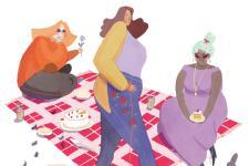 Picnic Illustration Ash Thomas